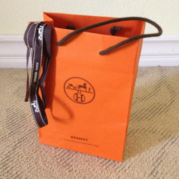 Hermes - Authentic Hermes gift bag n ribbon from Larissa's closet ...