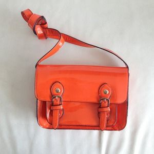 Neon orange satchel