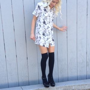 Horse drawing printed shirt dress SALE