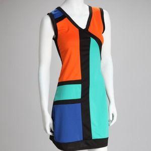 Dresses & Skirts - DONATED Colorblock sheath dress