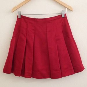 Zara Satin Red Skirt