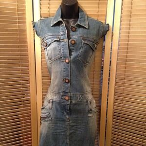 Apple bottom denim dresses