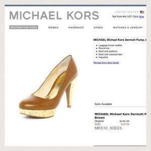 Authentic Michael Kors dermott pump✨reduced !!