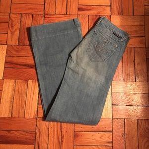 J & CO. Wide Leg Blue Jeans