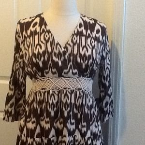 Dresses & Skirts - 👗 Brown long sleeve tribal maxi