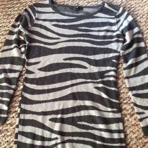 Zebra Print Forever 21 Sweater Dress