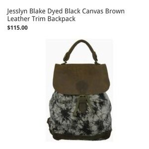 Jesslyn Blake Handbags - ✨REDUCED✨ Great Condition Tye Dye Leather Backpack