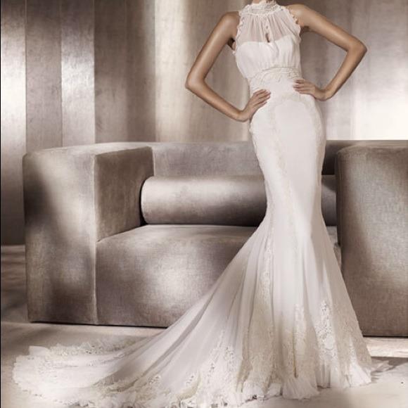 Pronovias Dresses | Puebla Wedding Dress By Manuel Mota | Poshmark