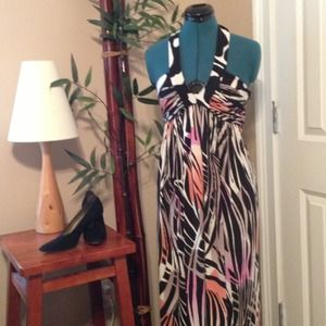 Donna Morgan halter maxi dress