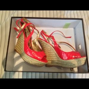 Bebe Avery Red Espadrilles