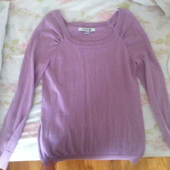 58% off Forever 21 Tops - Forever 21 light purple long sleeve ...