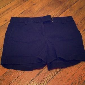 J crew navy flat front shorts size 0