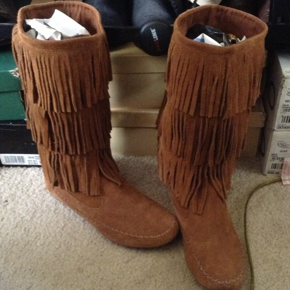 RESERVED) Lauren Conrad Fringe Boots 👎 8 from L's closet on Poshmark