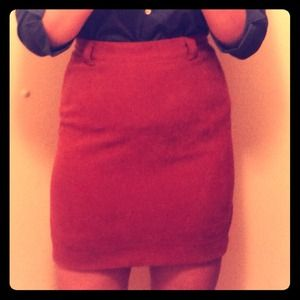Vintage high waisted suede skirt