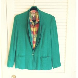 Vintage emerald green blazer