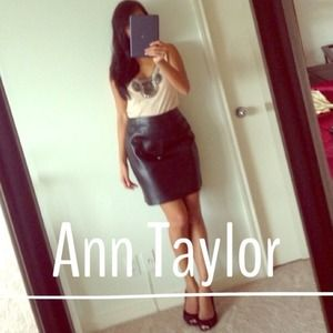 😍HOST PICK😍Ann Taylor REAL LEATHER  pencil skirt