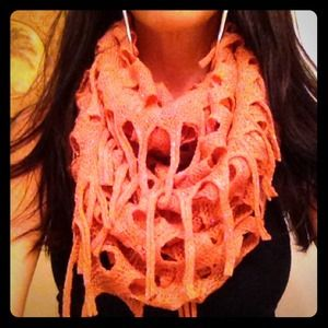 Kristee P Accessories - Rose Colored Knit Infinity Scarf