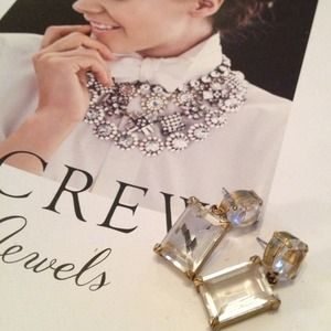 FLASH SALE j.crew gold and crystal earrings