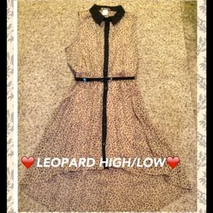 ❤BUNDLED ❤PRETTY HIGH/LOW LEOPARD PRINT DRESS!❤