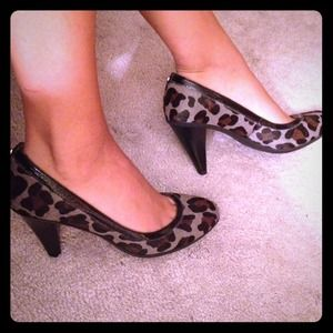Michael Kors Animal Print Calf Hair Heels