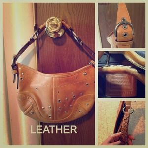 Authentic Leather coach purse