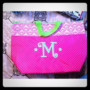 Handbags - Monogrammed lunch box- never used!