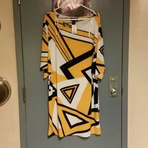 Dresses & Skirts - Yellow black and white dress