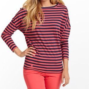 Lilly Pulitzer Tops - ⬇️🎉HP🎉 Lilly Pulitzer striped dolman sleeve top