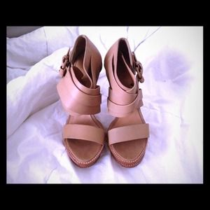 L.A.M.B light brown leather sandals size 7.5