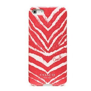 🎉Sale🎉Coach Zebra Print Hardshell iPhone 5 Case