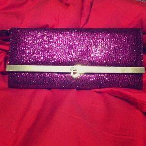 ⚡ FLASH SALE ⚡Purple sparkly glitter clutch