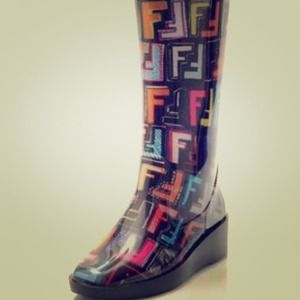 Fendi Logo Rain Boots the cheapest for sale quality free shipping outlet cheap finishline 9ThBQB