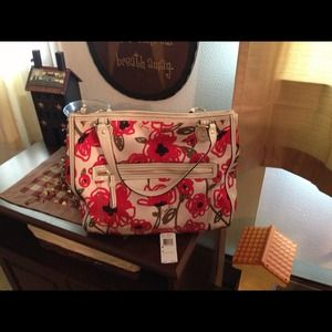 Authentic poppy Coach bag