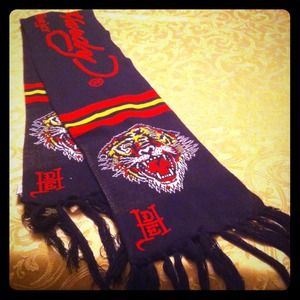 Long black Ed Hardy scarf!