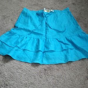 Linen blue tiered skirt - old navy size 1