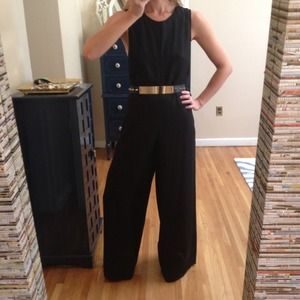 Pants - Wide Leg Black Jumpsuit