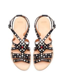 Host PickZara Studded strappy flat sandals