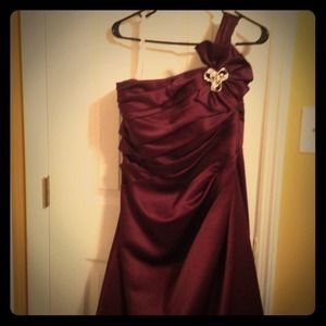 Plum colored prom dress