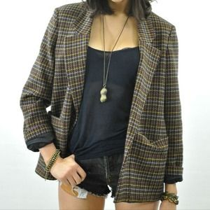 ✋Reserved✋Host PickVintage 80's DVF Plaid By
