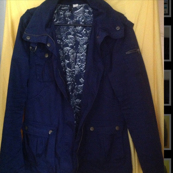 H&M - H&M Navy Military Jacket from Kenneisha's closet on Poshmark