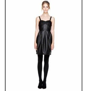 🔴Final Price 🔴Black Faux Leather Dress