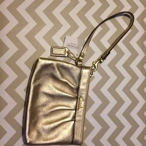 Gorgeous metallic Coach Wristlet!!