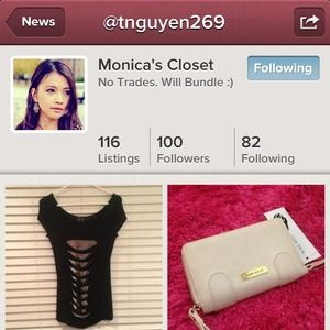Everyone follow and shop my little sis's closet💋
