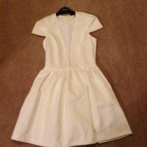 Topshop Skater Dress (white). Size US 6