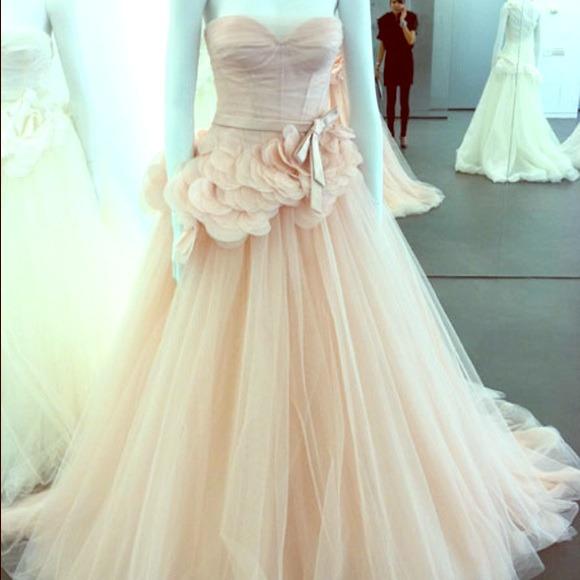 Vera Wang Dresses | Light Pink Ball Gown | Poshmark