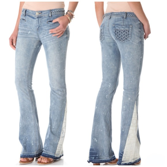 41% off Free People Denim - Free People Low Rise Flare Leg Jeans ...
