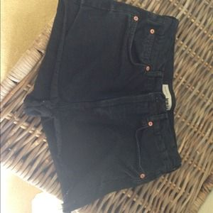 Topshop high waisted jean shorts