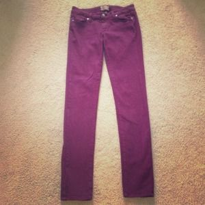Paige Maroon peg skinny jean size 26