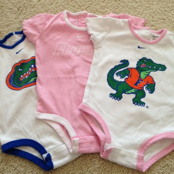 27880664 Nike Florida Gator 3-6 month girls onesies