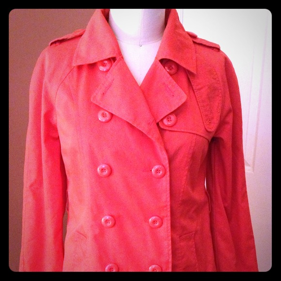 81db2fba3 Not Available -- Orange Trench Coat